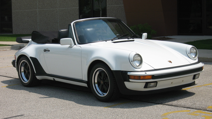 1986 Porsche 911 Carrera Turbo-Look (m491) Cab, GP White/Black ...