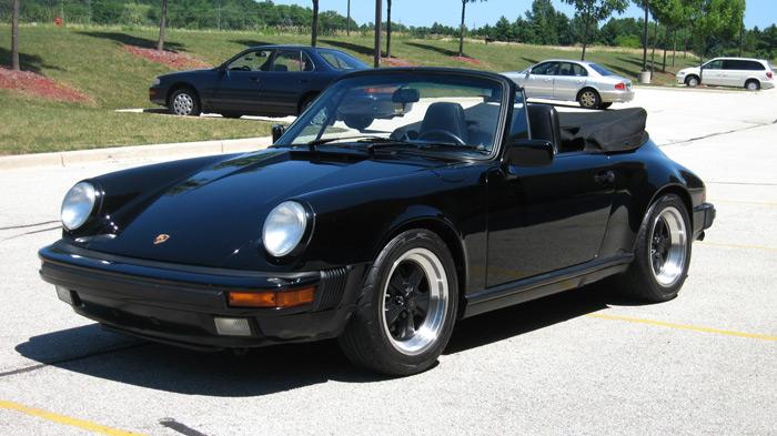 1988 Porsche 911 Carrera Cabriolet, Black/Black, 90,199 miles -SOLD