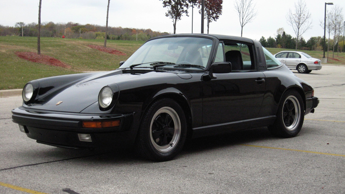 1986 Porsche 911 Carrera Targa, Black/Black, 49,908 Miles – SOLD