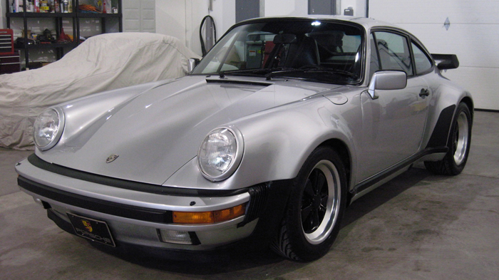 1985 Porsche 911 Carrera M491 Turbo-Look Coupe, Silver/Black, 75,567 miles – SOLD