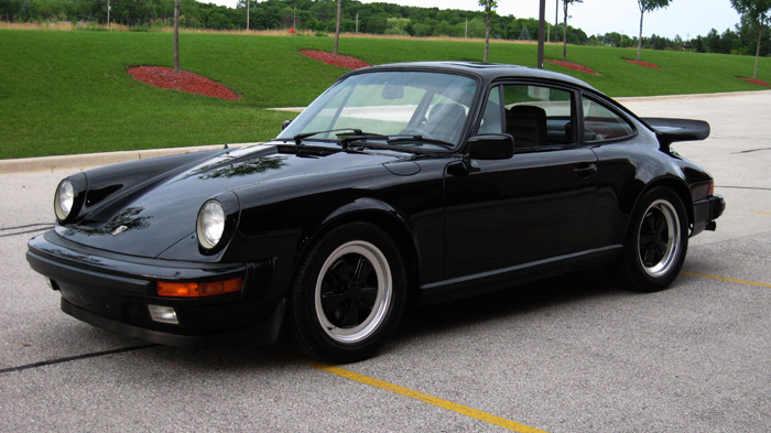 1984 Porsche 911 Carrera Coupe, Black/Black, 32,410 Miles – SOLD