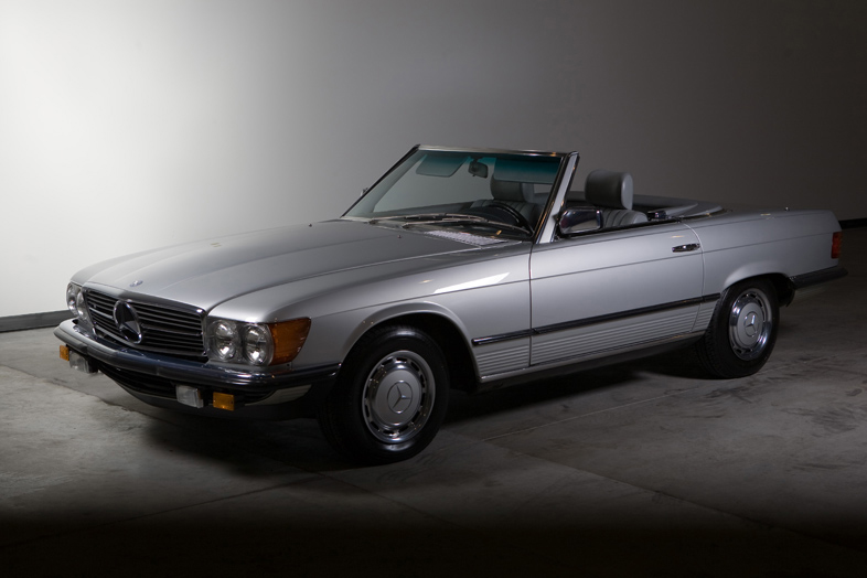 1985 Mercedes-Benz 280SL, Astral Silver/Grey, 25,230 miles – SOLD