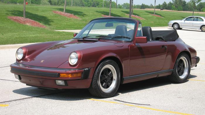 1985 Porsche 911 Carrera Cabriolet, Garnet Red/Black, 36,375 miles