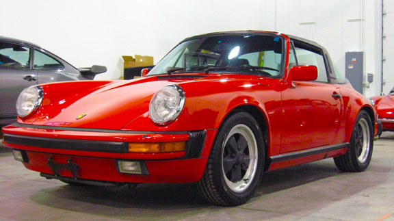 1986 Porsche 911 Carrera Targa, Guards Red/Black, 44,725 miles – SOLD